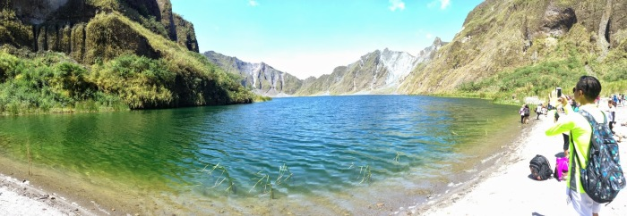 The Crater Lake at Mount Pinatubo