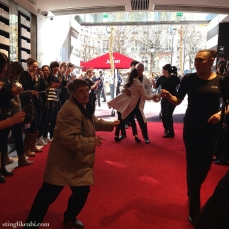 It's always a party at Sephora, Champs Elysees. Beyoncé starts piping in, and everybody just starts dancing!