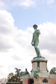A replica of David, at Piazzale Michelangelo. Firenze.
