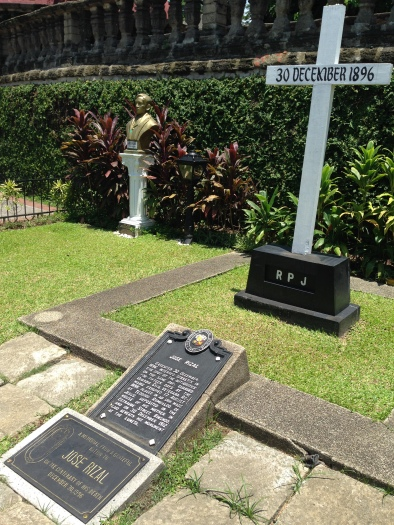The tomb site of Philippine National Hero, Dr. Jose P. Rizal.