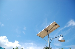 Each earth bag house built in Barangay Lajala is provided with a solar panel. Currently, this is the town's only source of energy.