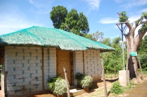 An example of the 34 currently-standing earth bag houses in Barangay Lajala