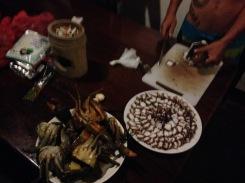Crab, octopus... everything's fresh!